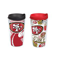 Tervis NFL 16oz All Over and Genuine Tumbler Set - San Francisco 49ers