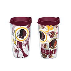 Tervis NFL 16oz All Over and Genuine Tumbler Set - Washington Redskins
