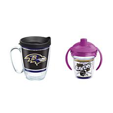 Tervis NFL Baltimore Ravens Legend Coffee Mug & Born A Fan Sippy Cup