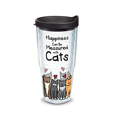 Tervis Project Paws Happiness Can Be Measured With Cats 24 oz Tumbl...