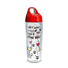 Tervis Project Paws I Just Want to Rescue Dogs & Drink Wine 24 oz W...
