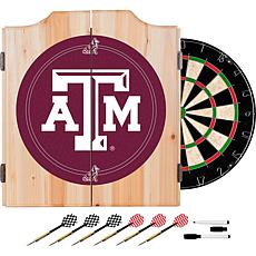 Texas A&M University Dart Cabinet with Darts and Board