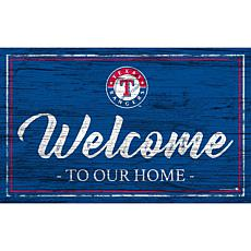 """Texas Rangers Team Color Welcome Sign - 11x19"""""""