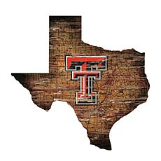 Texas Tech University Distressed State with Logo