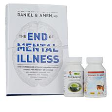 The End to Mental Illness Book Kit w/Vitamin D3-2000 and Theanine 200