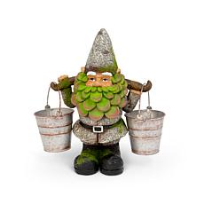 "The Gerson Company 14""H Resin Gnome Holding 2 Buckets"