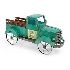 """The Gerson Company 41""""L Solar Lighted Metal Garden Truck"""