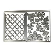 The Stamps of Life Dragonfly and Flower A2 Card Die Set