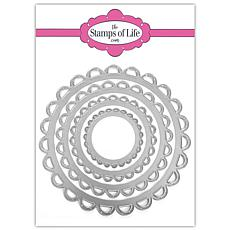 The Stamps of Life Eyelet Scallop Circles Shape Die Set