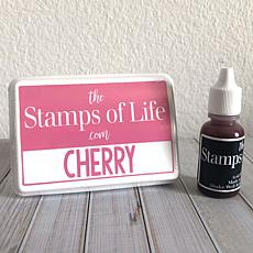 The Stamps of Life Ink Pad and Refill - Cherry