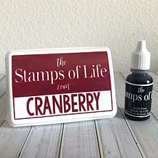 The Stamps of Life Ink Pad and Refill - Cranberry