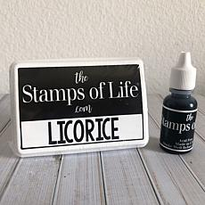 The Stamps of Life Ink Pad and Refill - Licorice