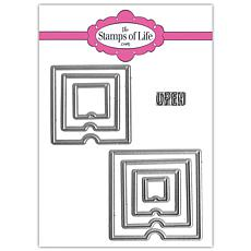 The Stamps of Life Peek-a-boo Square Die Set