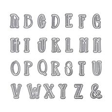 The Stamps of Life Striped Alphabet Die Set
