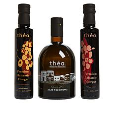 théa 3-pack Greek Olive Oil with 2 Balsamic Vinegars