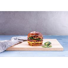 Thomas Farms Butchery 12 5oz Jalapeno-Cheddar Angus Burgers AS
