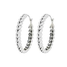 Tiffany Kay Studio Sterling Silver Herringbone Hoop Earrings