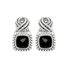 Tiffany Kay Studio Sterling Silver Onyx Eyelet Earrings