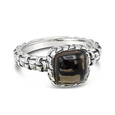 Tiffany Kay Studio Sterling Silver Purl Knit Smoky Quartz Ring