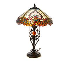 Tiffany-Style Victorian Art Glass Table Lamp