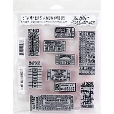"Tim Holtz Cling Stamps 7"" x 8.5"" - Ticket Booth"