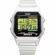 Timex Men's Silvertone Digital Chronograph Watch