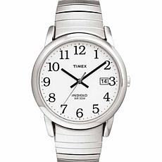 Timex Men's Silvertone Easy Reader Expansion Watch