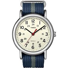 Timex Unisex Weekender Blue & Gray Nylon Strap Watch