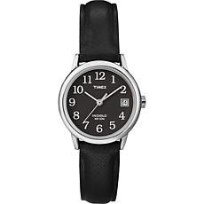 Timex Women's Black Dial EZ-Reader Black Strap Watch