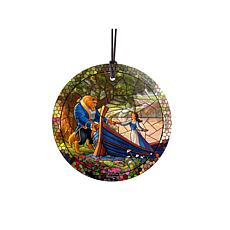 TK Disney Glass Hanging Print - Beauty and the Beast II, Stained Glass