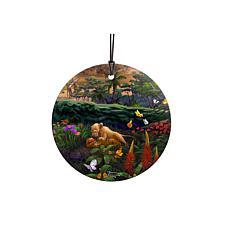 TK Disney Lion King Young Simba and Nala Hanging Glass StarFire Print