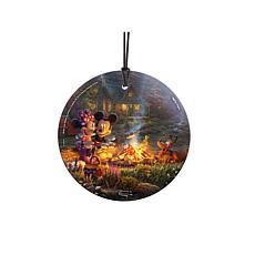 TK Disney Mickey and Minnie Campfire Hanging Glass StarFire Print