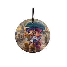 TK Disney Mickey and Minnie in Paris Hanging Glass StarFire Print