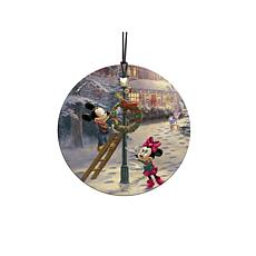TK Disney Mickey's Victorian Christmas Hanging Glass StarFire Print