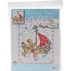 Tobin Stamped Quilt Cross Stitch Kit - Sail Away