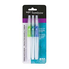 Tombow Water Brush Pens 3-pack