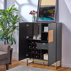 Toniston Anywhere Bar Cabinet - Contemporary Style