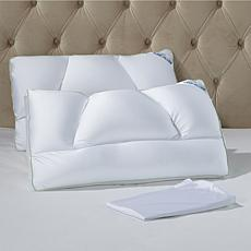 Tony Little DeStress® Micropedic Pillow 2-pack w/2 Pillowcases - Queen