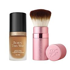 Too Faced Born This Way Butter Pecan Foundation with Kabuki Brush