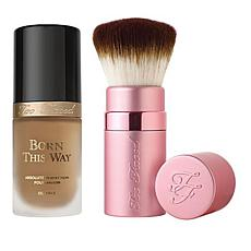 Too Faced Born This Way Honey Foundation and Kabuki Brush Set