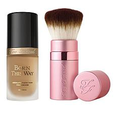 Too Faced Born This Way Sand Foundation and Kabuki Brush Set