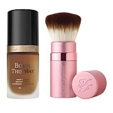 Too Faced Hazelnut Forever Flawless Foundation and Brush Set