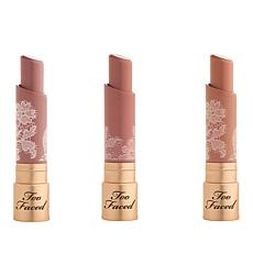 Too Faced Natural Nudes Coconut Butter Lipstick Trio