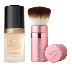 Too Faced Seashell Forever Flawless Foundation and Brush Set