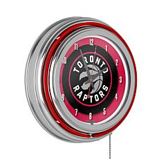 Toronto Raptors Double Ring Neon Clock