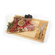 Toscana by Picnic Time Icon Cutting Board (Rubberwood & Bamboo)