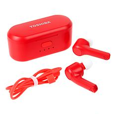 Toshiba Air Pro Truly Wireless Sweat-Resistant Earbuds with Case