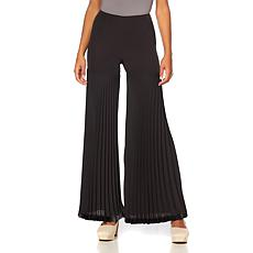 Touch of Cyn by Cyndi Lauper Crepe Pleated Wide Leg Pant