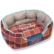 Touchdog Archi-Checked Designer Plaid Oval Dog Bed