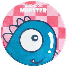 Touchdog Cartoon Shoe-faced Monster Rounded Cat and Dog Mat